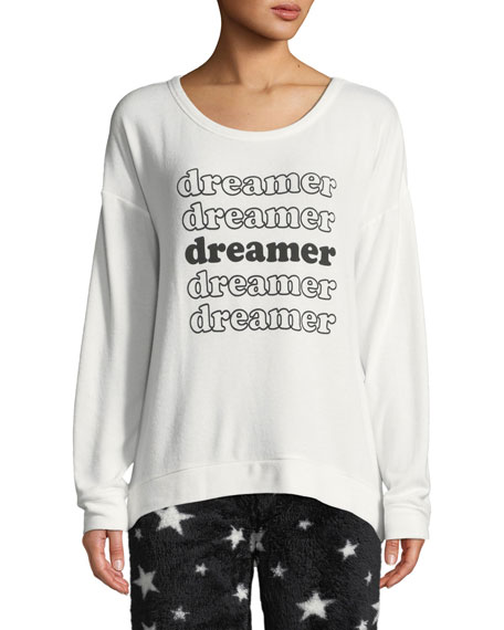 Pj Salvage DREAMER GRAPHIC LOUNGE SWEATSHIRT