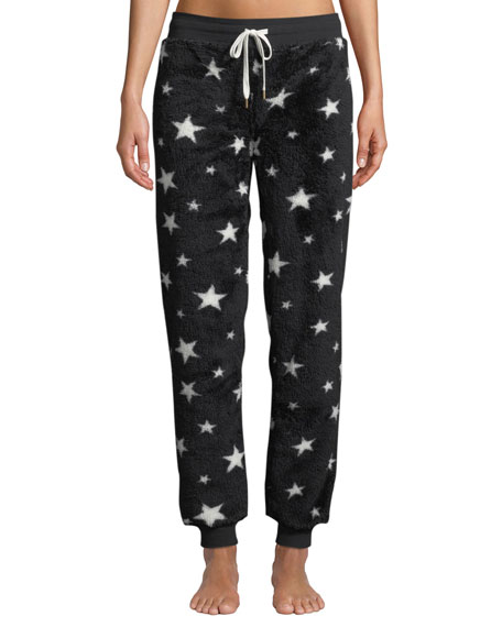 Pj Salvage DREAMER STAR-PRINT FLEECE JOGGER PANTS