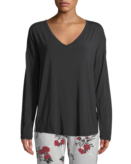 Pj Salvage VINTAGE BLOOMS LONG-SLEEVE LOUNGE TOP