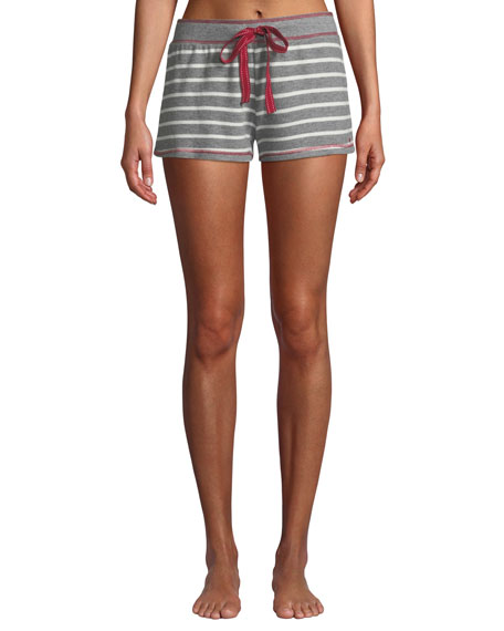 Pj Salvage ON HOLIDAY STRIPED LOUNGE SHORTS