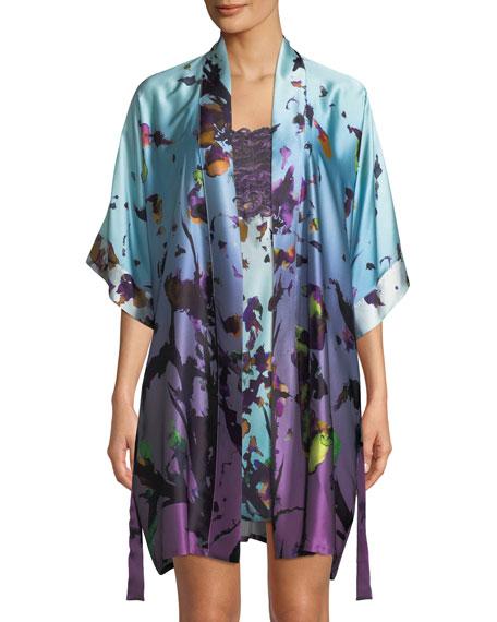 Kaleidoscope Silk Short Robe