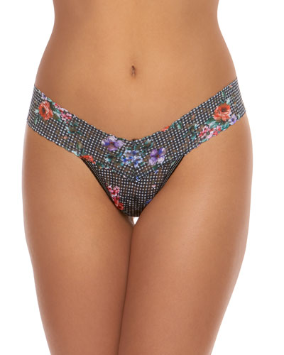 Checkered Past Low-Rise Lace Thong