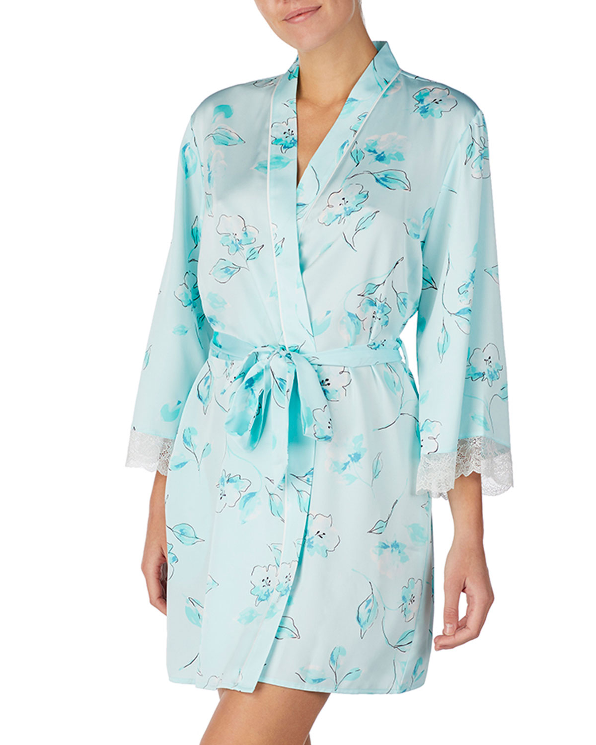 kate spade new york cherry blossom lace-trim robe  b63455c2d