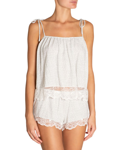 Eberjey Tops Abstract Animal Coquettish Pajama Camisole Top