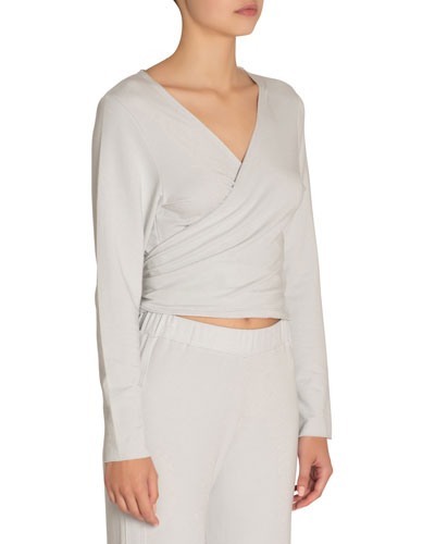 Odile Long-Sleeve Ballet Wrap Top