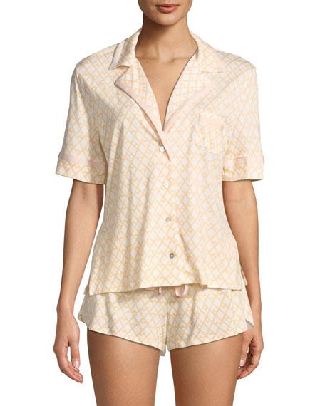 Cosabella Bella Geometric-Print Shorty Pajama Set