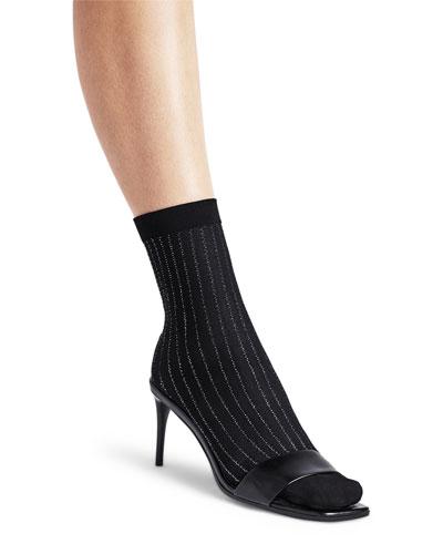 Sparkle Stripe Ankle Socks