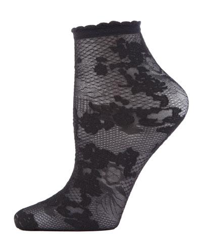 Floral Lace Ankle Socks