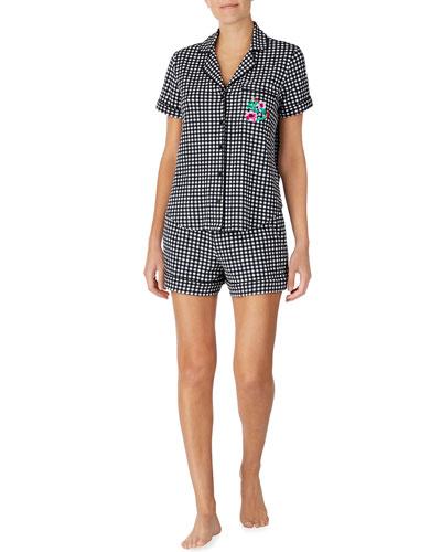 picnic shorty pajama set