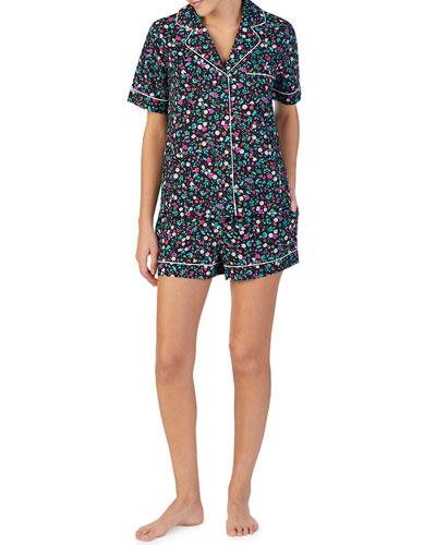 ditzy floral shorty pajama set