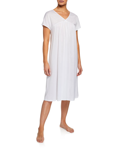 Hanro Loungewears LOTTA SHORT-SLEEVE NIGHTGOWN