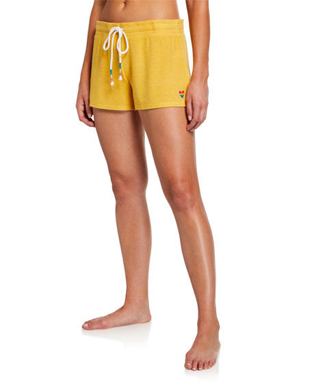 Pj Salvage Shorts PATCH DRAWSTRING-WAIST LOUNGE SHORTS