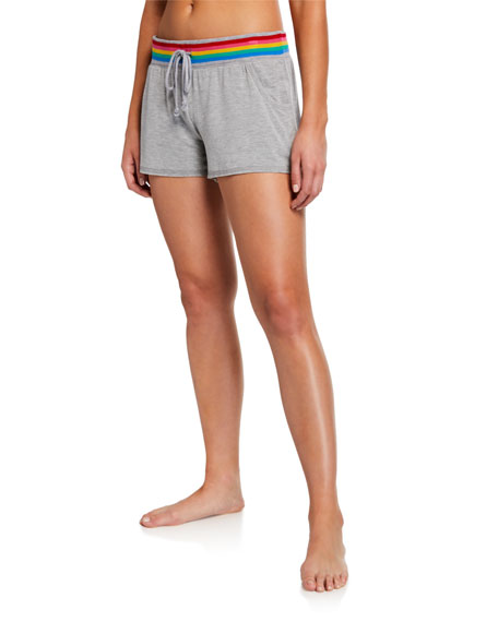 Pj Salvage Shorts RAINBOW-WAIST LOUNGE SHORTS