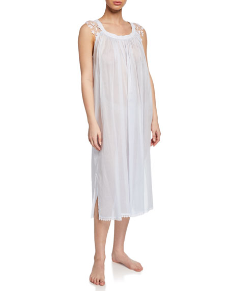 Celestine Tops BETTINA SLEEVELESS NIGHTGOWN WITH LACE TRIM
