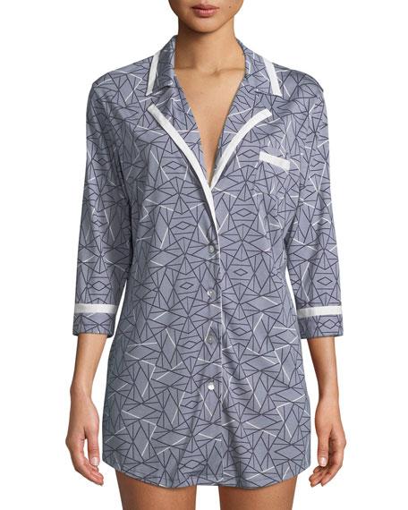 Cosabella Bella Printed Long-Sleeve Sleepshirt