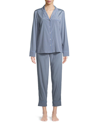 Poppy Snoozing Pants Silk Pajama Set