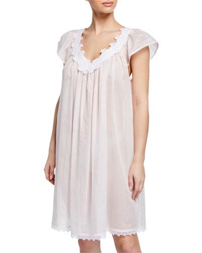 Azisa Cap-Sleeve Babydoll Nightgown