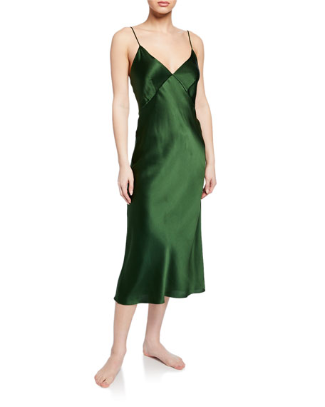 Olivia Von Halle Tops ISSA IVY SILK NIGHTGOWN