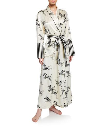 Capability Zebedee Long Silk Robe