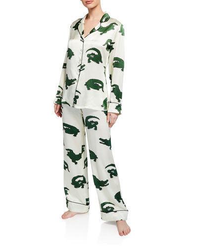 Lila Nemesis Silk Classic Pajama Set