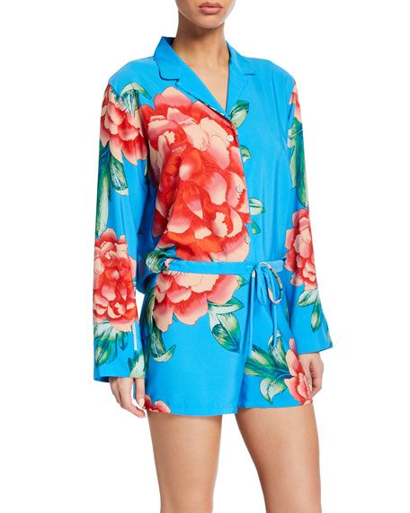 Natori Nova Long-Sleeve Shorty Pajama Set