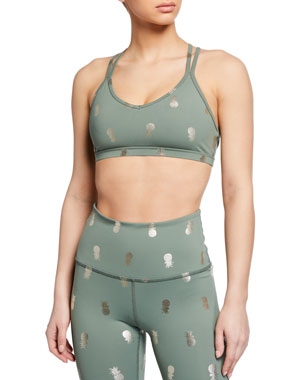 fc753614afb25 Beyond Yoga Pineapple Double-Back Sports Bra