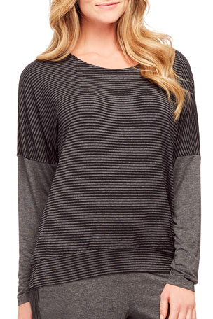 Fleur't Casual Perfection Striped Lounge Top