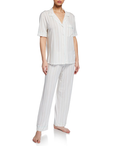 Summer Stripes Short-Sleeve Pajama Set