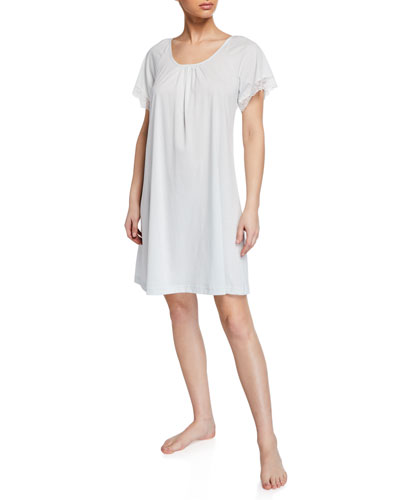 Pretty Lace Short-Sleeve Nightgown