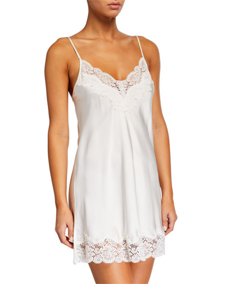 Ginia PICK-AND-MIX CONTRAST-LACE CHEMISE