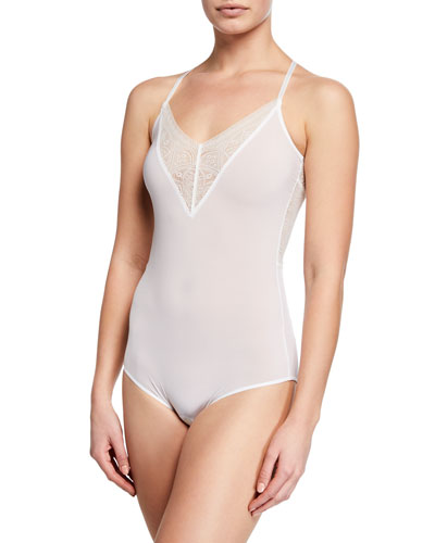 Moa Lace-Inset Bodysuit