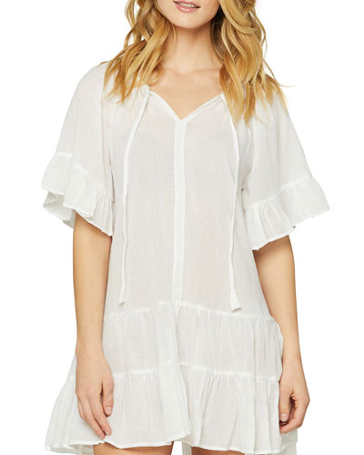 Bell-Sleeve Cotton Gauze Nightie