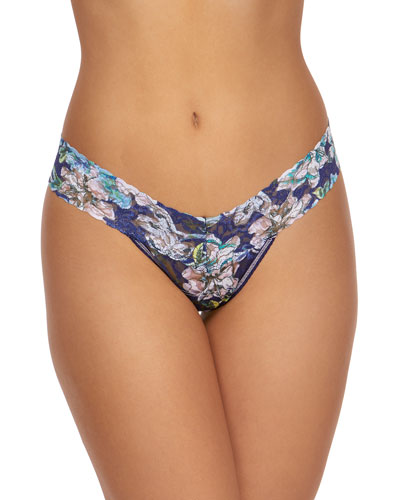 Felice Floral Low-Rise Lace Thong