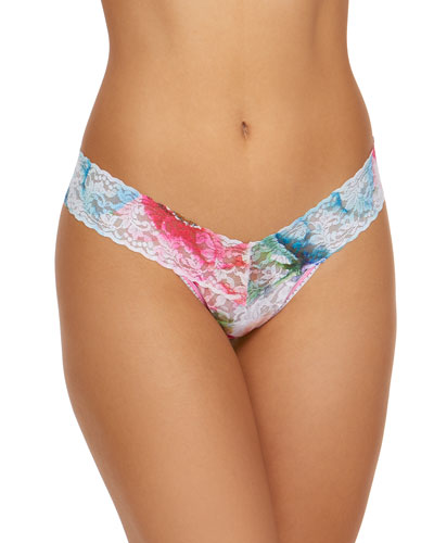 Impressionista Low-Rise Lace Thong
