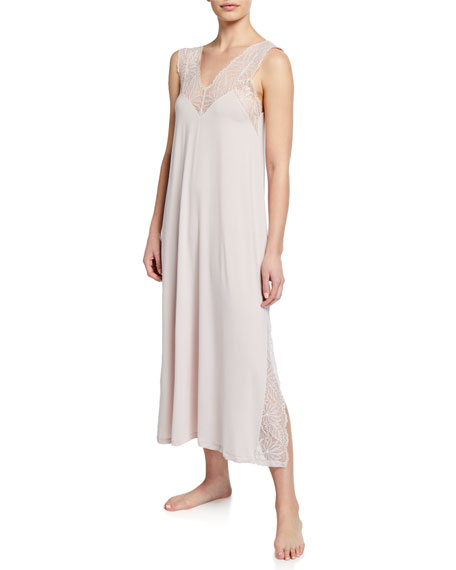 Zimmerli Gowns SLEEVELESS LONG JERSEY NIGHTGOWN