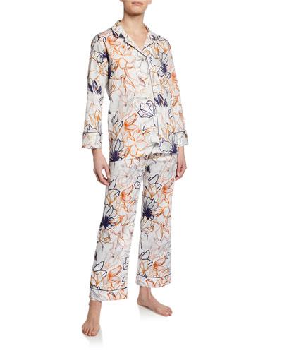 Floral-Print Classic Pajama Set