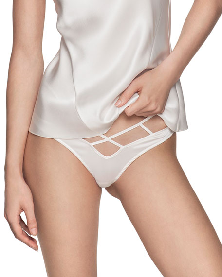 Kiki De Montparnasse Pants CAGE HIGH-WAIST BIKINI BRIEFS