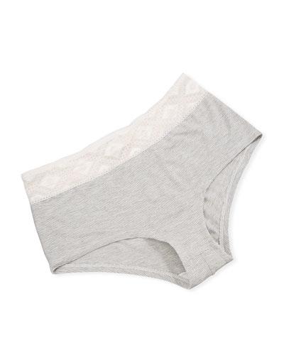 Adriana Low-Rise Lace-Trim Hotpants
