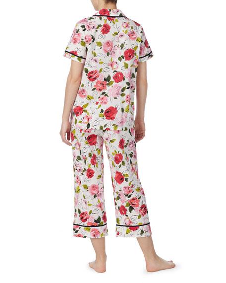 kate spade new york lawn short-sleeve crop pajama set