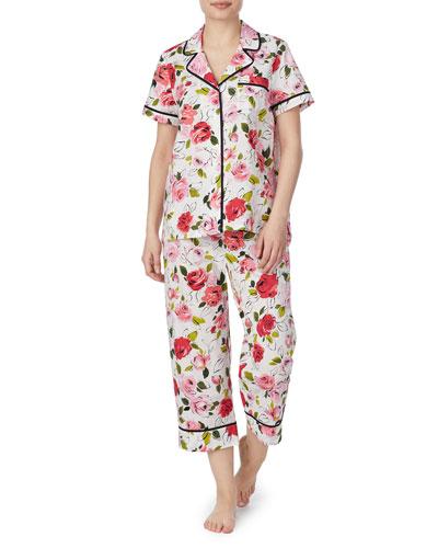 lawn short-sleeve crop pajama set