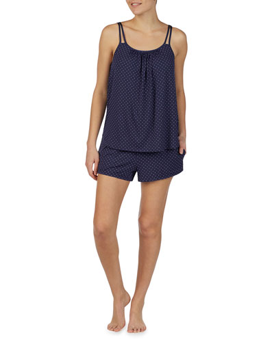 pindot short pajama set