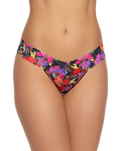 Floral Lace Low-Rise Thong