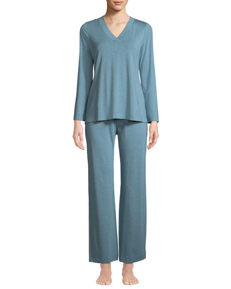 Hanro Champagne Pajama Set 2d91d4775