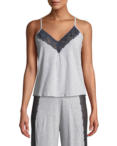 Ferrara Lace-Trimmed V-Neck Lounge Camisole