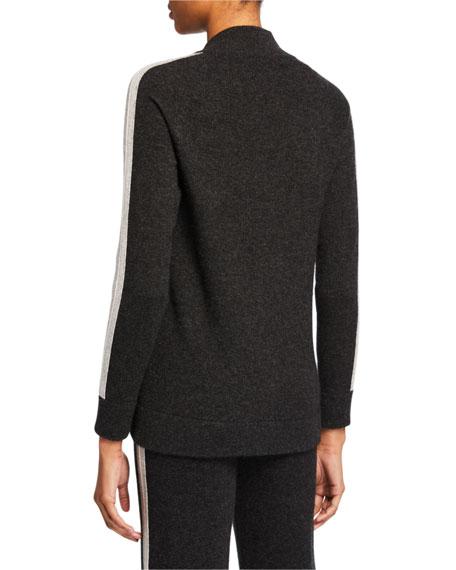 Neiman Marcus Cashmere Collection Cashmere Zip-Front Track Jacket
