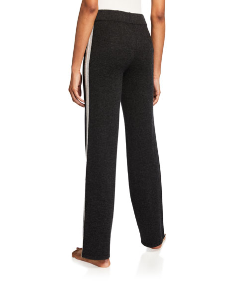 Neiman Marcus Cashmere Collection Cashmere Track Pants