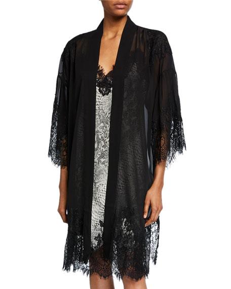 Gold Hawk Coco Lace Kimono Robe