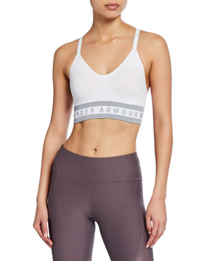 b5b9777807fc Under Armour Seamless Longline Logo Sports Bra