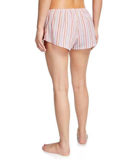 Xirena Shyla Striped Cotton Lounge Shorts