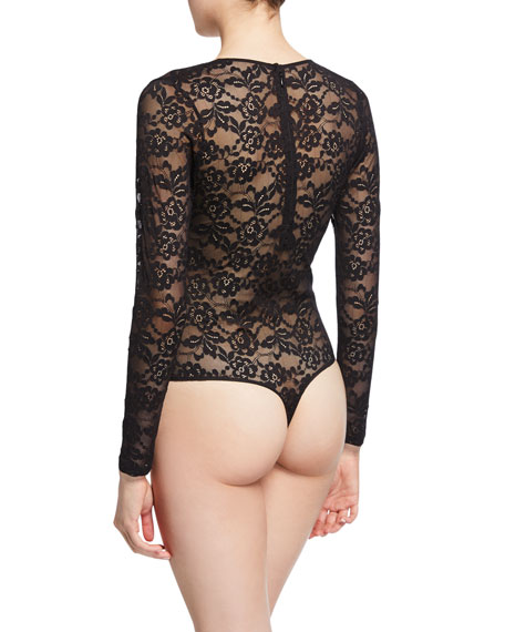 Myla London The Strand Long-Sleeve Lace Bodysuit